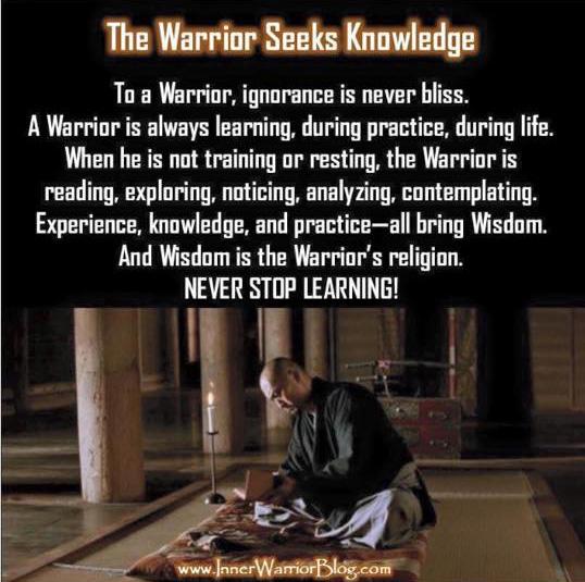 Warrior Seeks Knowledge